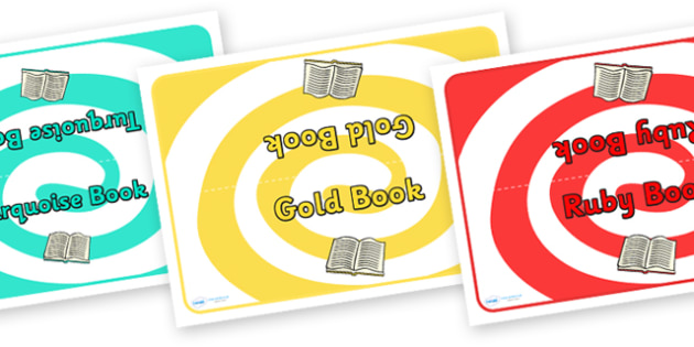 Class Book Group Table Signs Jewel Themed - class, book, group, table, signs, jewel themed, book group, table signs, classroom signs, area signs