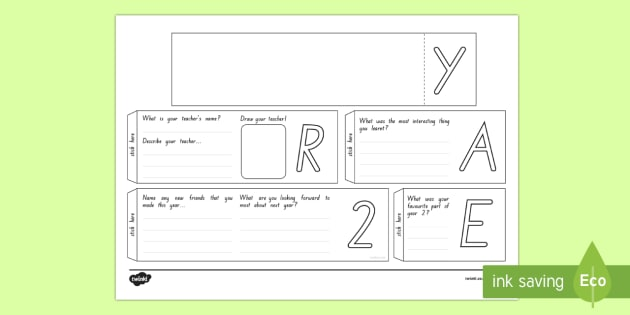 Year 2 Write Up Booklet