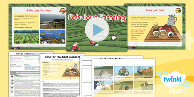 Geography: Let's Go to China: Fabulous Farming Year 2 Lesson Pack 6