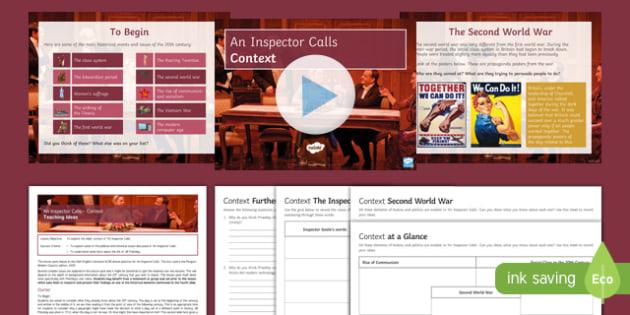 An Inspector Calls   Context Lesson Pack