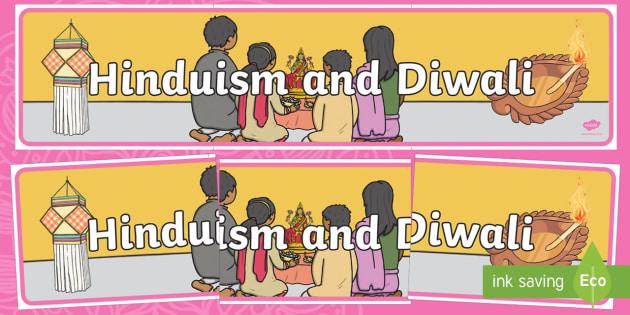 Hinduism and Diwali Display Banner