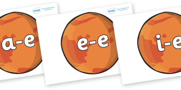 Modifying E Letters on Mars - Modifying E, letters, modify, Phase 5, Phase five, alternative spellings for phonemes, DfES letters and Sounds