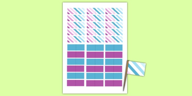 Baptism Toothpick Flags - Baptism, party, decorations, new parents, birth to twos