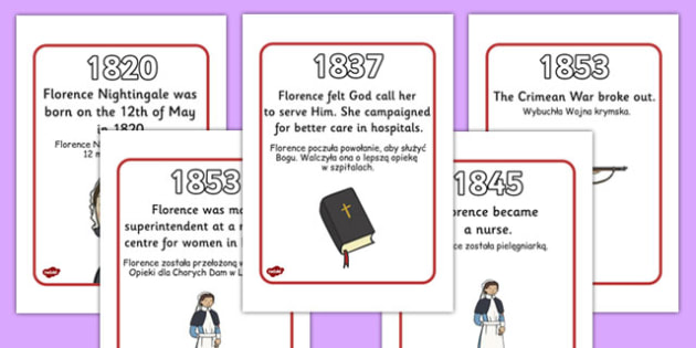 Florence Nightingale Timeline Polish Translation - polish, florence nightingale, timeline