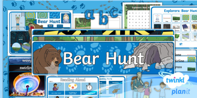 Explorers: Bear Hunt Y1 Display Pack To Support Teaching on 'We're Going on a Bear Hunt' - Repeating parts, animals, Helen Oxenbury, Jill murphy, Julia Donaldson