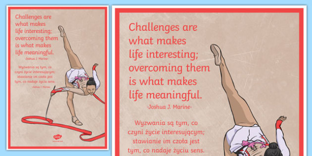 Challenges Are What Makes Life Interesting Motivational Poster Polish Translation - polish, challenge, poster, motivational
