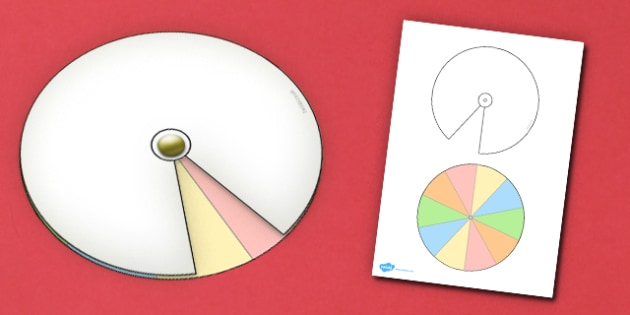 Interactive Notebook Spinner 1 10th - paper craft, visual aid