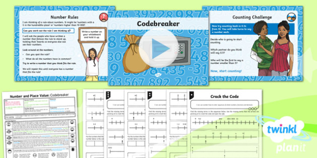 PlanIt Y6 Number and Place Value Lesson Pack Number Sequences (3) - Number and Place Value, decimals, decimal places, ordering numbers,year 6