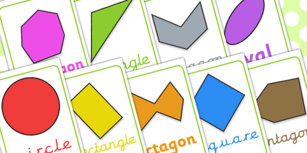2D Shape Posters Irregular and Different Orientations - shapes