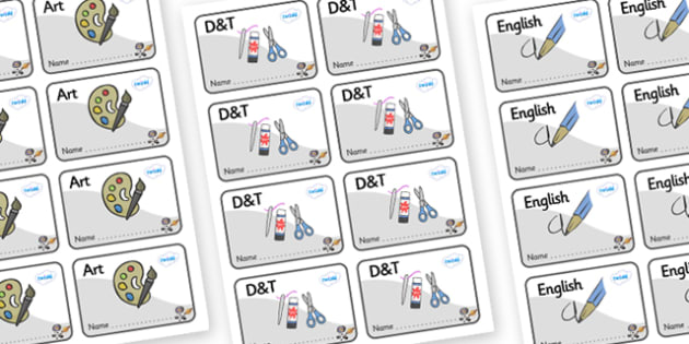 Space Themed Editable Book Labels - Themed Book label, label, subject labels, exercise book, workbook labels, textbook labels