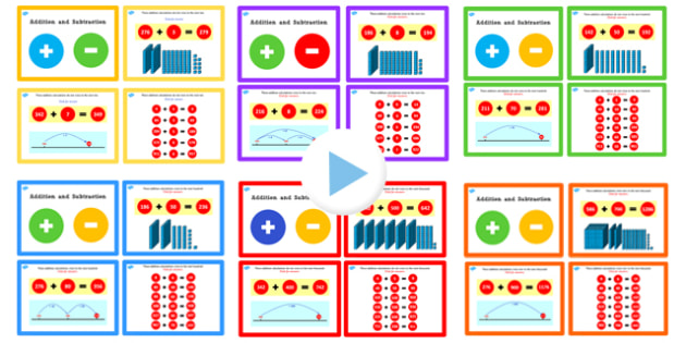 Year 3 Addition and Subtraction PowerPoints Pack Lesson 1 - pack