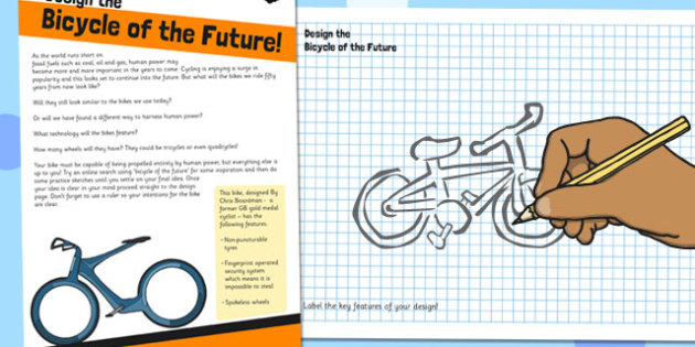 Design the Bike of the Future Activity Sheet - bike, future, worksheet