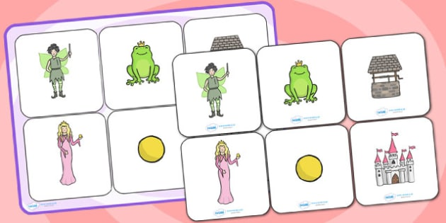 The Frog Prince Matching Cards and Board - the frog prince, the frog prince matching game, the frog prince picture matching activity, traditional tales