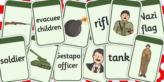 World War Two Matching Flashcards - matching, flashcards, ww2