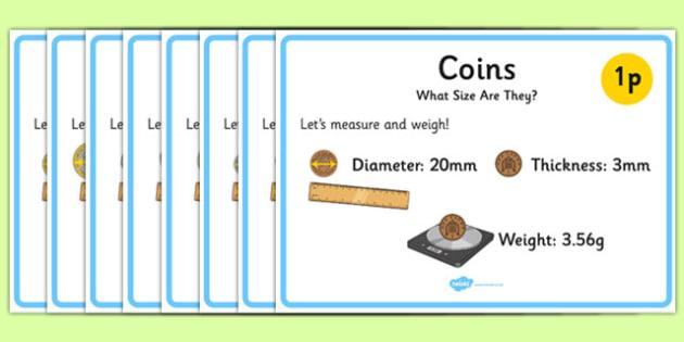 Recognising British (UK) Coins Display Posters - display posters