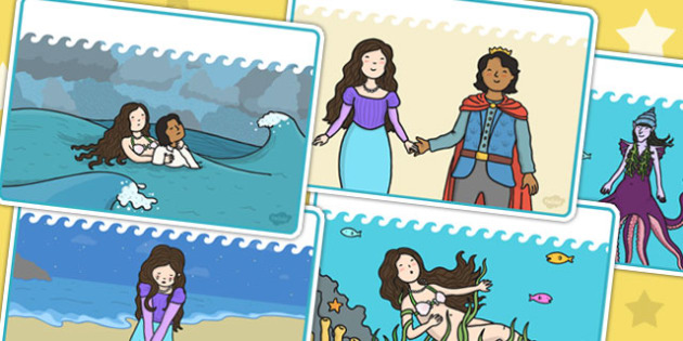 The Little Mermaid Blank Story Cards - visual aids, stories, book
