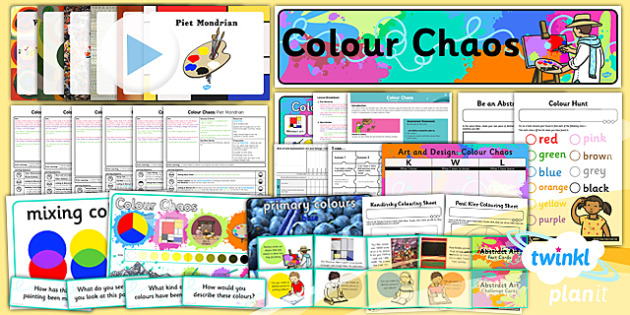 Art: Colour Chaos KS1 Unit Pack