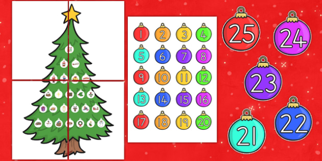 Large Christmas Tree Advent Calendar - australia, christmas, tree