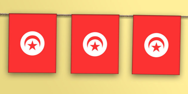 Tunisia Flag Bunting - nation, international, geography, culture, display, africa, olympics