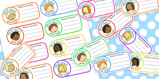 School Role Play Comment Stickers - School Role Play Pack, school role play, register, teacher, stickers, certificates, reading diary, role play, display, poster