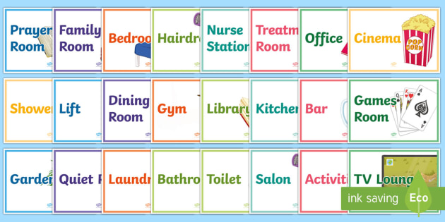 Care Home Area  Display Posters - Signs, Orientation, Communication, Elderly Care, Care Homes, Activity co-ordinator support.
