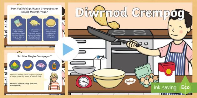 Diwrnod Crempog Pŵerbwynt - diwrnod, dydd mawrth ynyd, crempog, Mawrth, ynyd, chwefror,Welsh, dydd , ddydd, ddiwrnod
