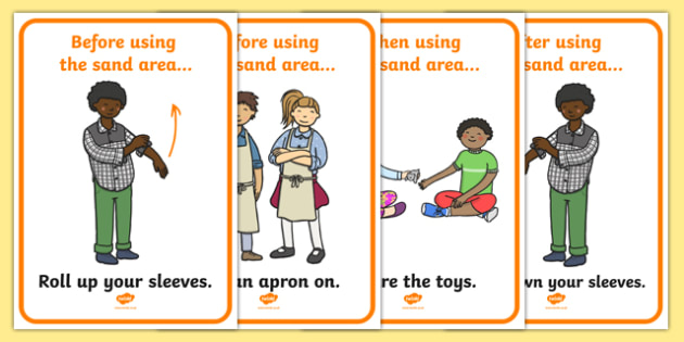 Sand Area Rules Display Posters - Good manners, good behaviour, class management, behaviour management, SEN, polite, sand Area Sign, Classroom Area Signs, Classroom Areas, Poster, Display, Areas, sand Area