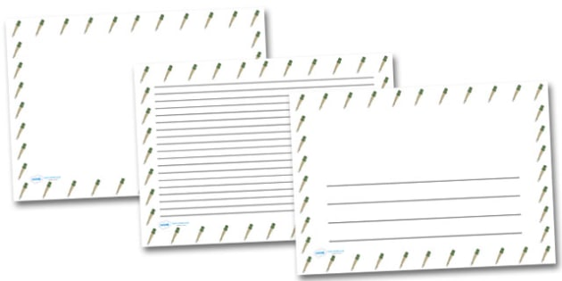 German Hand Grenade Landscape Page Borders- Landscape Page Borders - Page border, border, writing template, writing aid, writing frame, a4 border, template, templates, landscape