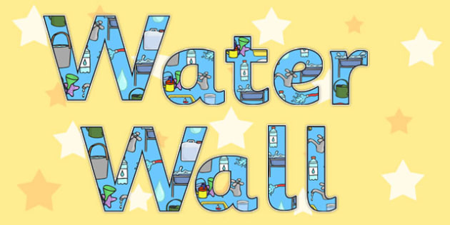 Water Wall Display Lettering - water wall, display lettering
