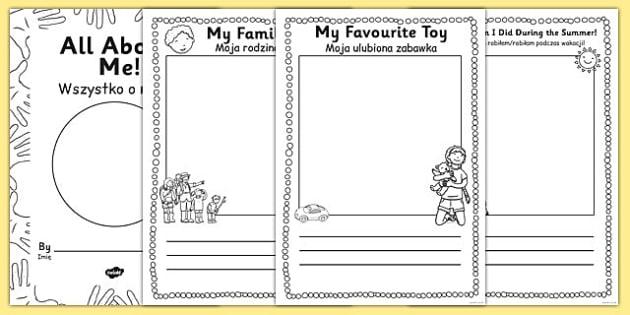 All About Me EYFS Transition Booklet Polish Translation - polish