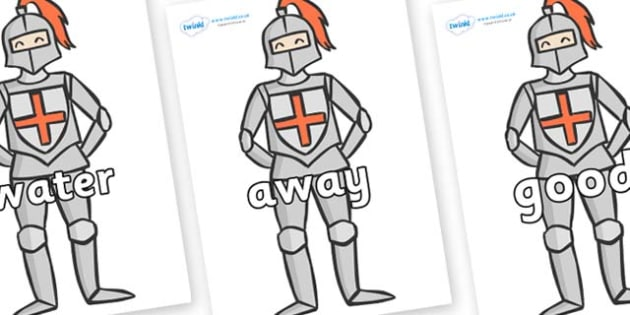 Next 200 Common Words on Knights - Next 200 Common Words on  - DfES Letters and Sounds, Letters and Sounds, Letters and sounds words, Common words, 200 common words