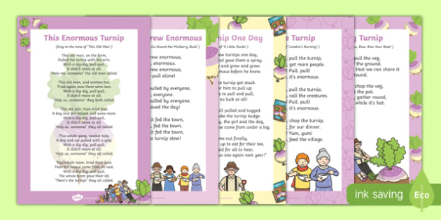 The Enormous Turnip Songs and Rhymes Resource Pack