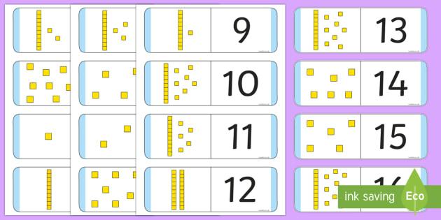 Numbers 1-30 Loop Cards with Dienes - numbers, 1-30, loop cards, dienes, activity, game