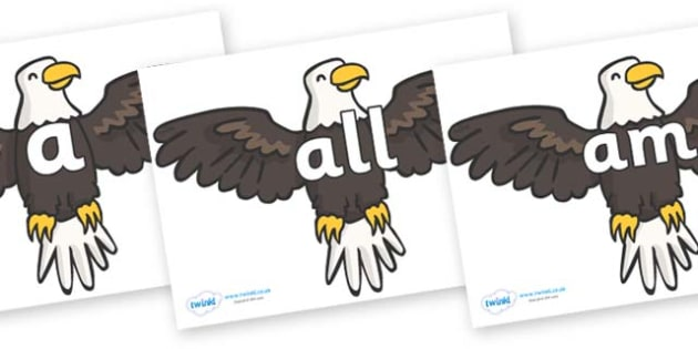 Foundation Stage 2 Keywords on Eagles - FS2, CLL, keywords, Communication language and literacy,  Display, Key words, high frequency words, foundation stage literacy, DfES Letters and Sounds, Letters and Sounds, spelling