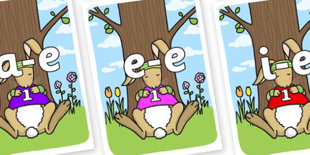 Modifying E Letters on Sleeping Hare - Modifying E, letters, modify, Phase 5, Phase five, alternative spellings for phonemes, DfES letters and Sounds