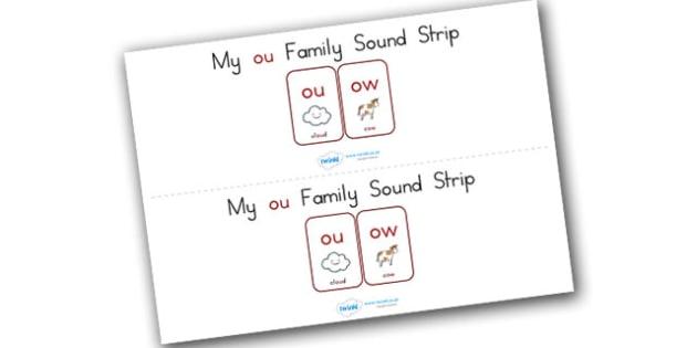 My Ou Family Sound Strip - sound family, visual aid, literacy