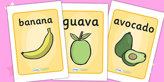 Display Posters to Support Teaching on Handa's Surprise - poster, displays, visual