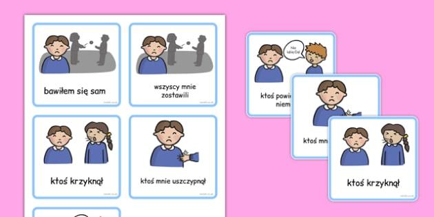 Karty komunikacyjne Edukacja specjalna Chłopiec po polsku