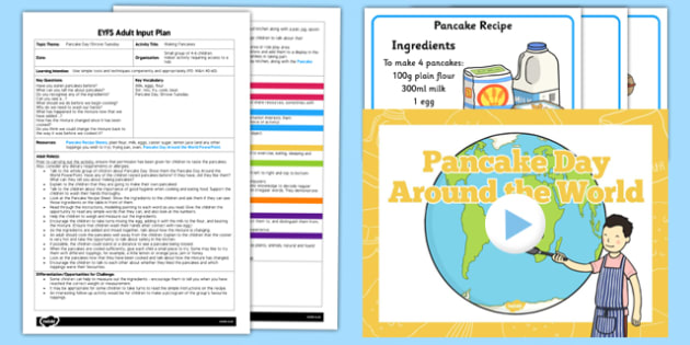 Making Pancakes EYFS Adult Input Plan and Resource Pack - adult input, pancakes, make