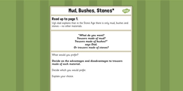 Mud Bushes Stone Challenge Activity to Support Teaching on Ug - ug, challenge, activity