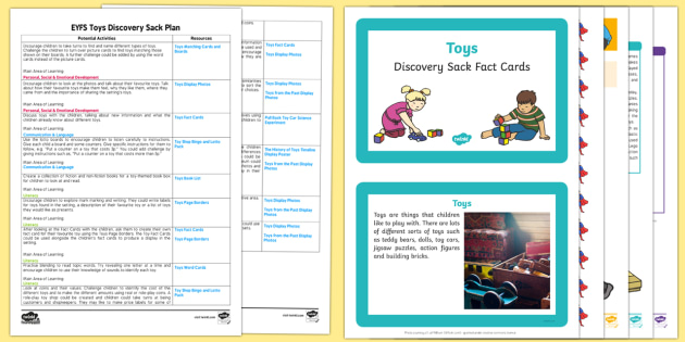 EYFS Toys Discovery Sack Plan and Resource Pack - EYFS, toys, discovery, discover, toy