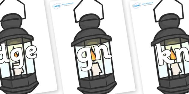 Silent Letters on Lamps - Silent Letters, silent letter, letter blend, consonant, consonants, digraph, trigraph, A-Z letters, literacy, alphabet, letters, alternative sounds
