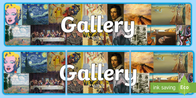 Gallery Themed Banner - gallery, banners, displays