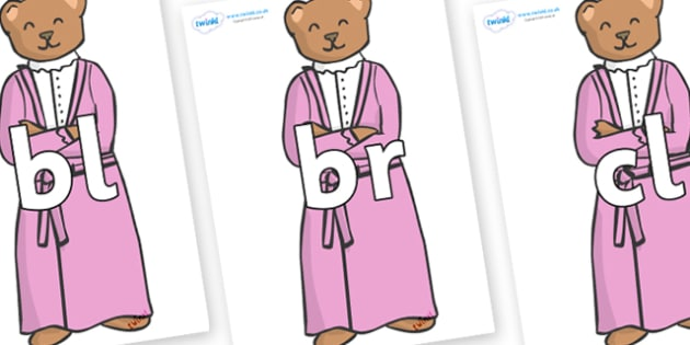 Initial Letter Blends on Mummy Bear - Initial Letters, initial letter, letter blend, letter blends, consonant, consonants, digraph, trigraph, literacy, alphabet, letters, foundation stage literacy