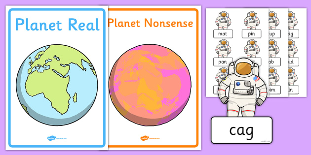 Phase 2 Phonics Real and Nonsense Words Sorting Activity Sheet, worksheet