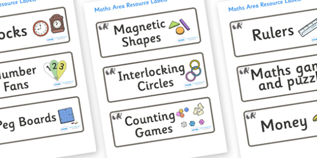 Panda Themed Editable Maths Area Resource Labels - Themed maths resource labels, maths area resources, Label template, Resource Label, Name Labels, Editable Labels, Drawer Labels, KS1 Labels, Foundation Labels, Foundation Stage Labels, Teaching Label