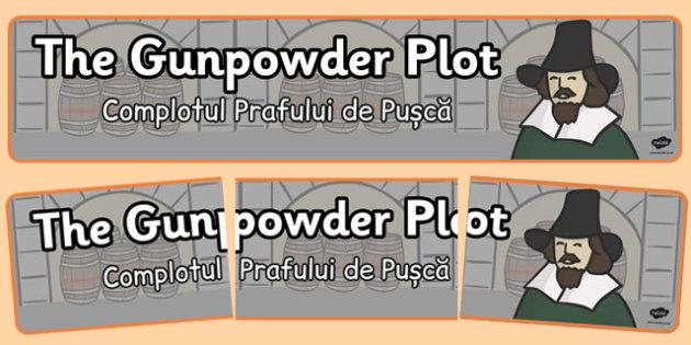 The Gunpowder Plot Display Banner Romanian Translation - romanian, gunpowder plot, display banner