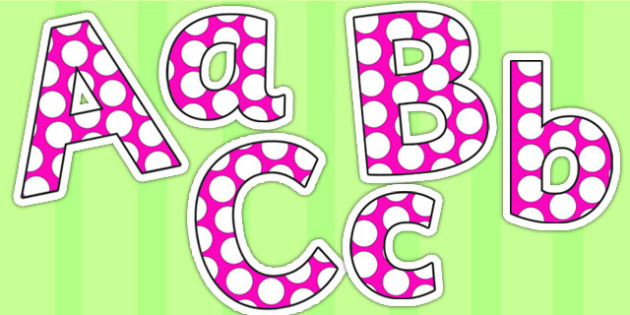 Pink and White Spots Editable - pink, white, spots, editable, display lettering