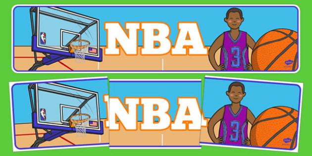 NBA Display Banner - usa, nba, national basketball association, basketball, display banner, display, banner
