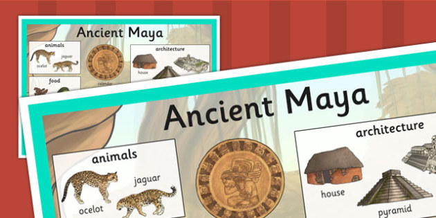 Maya Civilization Large Display Poster - mayans, history, poster